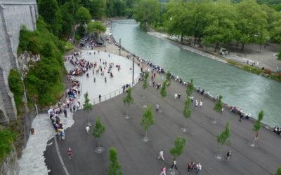 Réaménagement des abords de la grotte de Massabielle à Lourdes
