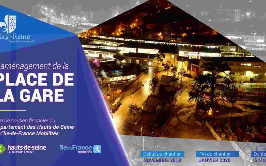 Inauguration de la place de la gare de Bourg-la-reine